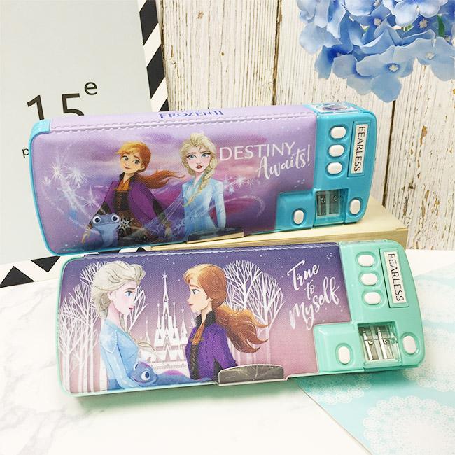 鉛筆盒 迪士尼 冰雪奇緣2 多功能 兩款 正版授權