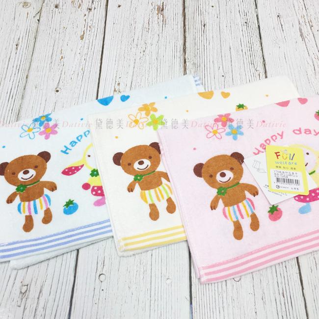 毛巾 綿 棕熊 兔兔 蜜蜂 繽紛 親膚 三款