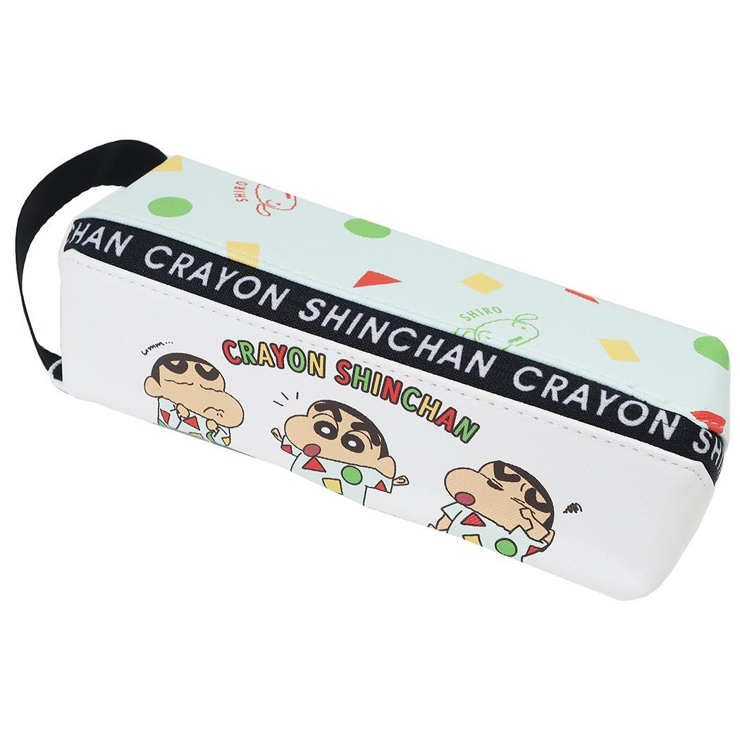 大容量筆袋 蠟筆小新 拉鍊筆袋 日本進口正版授權