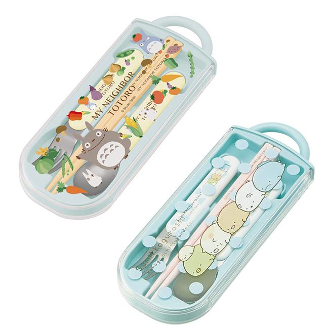 筷叉匙組 SAN-X 角落生物 宮崎駿 龍貓 餐具 環保 日本進口正版授權