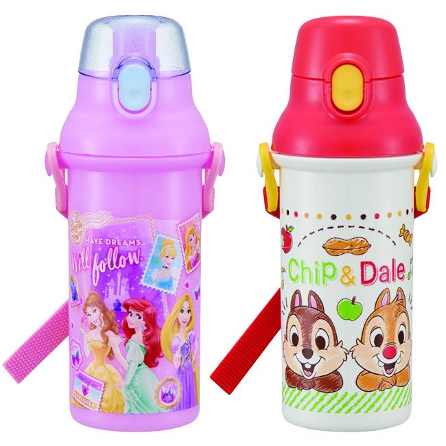 480ml水壺 日本 迪士尼 奇奇蒂蒂 公主系列 背帶水壺 日本進口正版授權