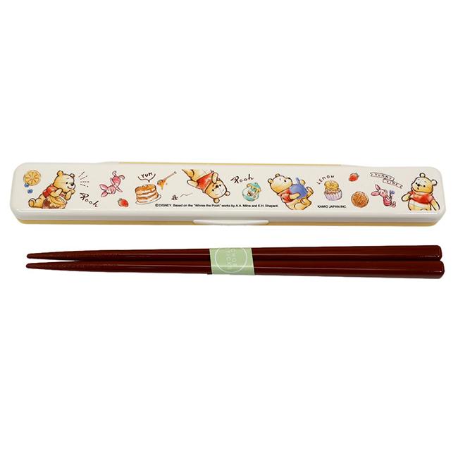 筷子附盒 日本 迪士尼 Disney 小熊維尼 餐具 日本進口正版授權