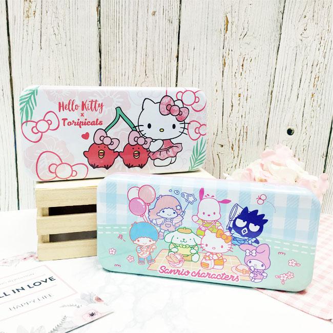 雙層鐵筆盒 三麗鷗 Hello Kitty tori 家族 兩款 正版授權