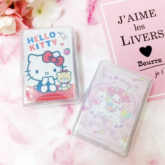 撲克牌 三麗鷗 Hello Kitty 美樂蒂 彩色圖案 趣味 遊戲 桌遊 兩款 正版授權