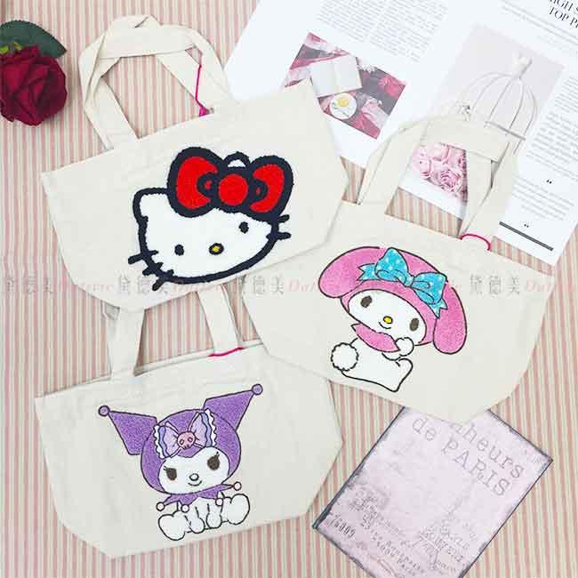 三麗鷗 刺繡手提袋 兩款 日本進口