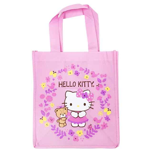 Hello Kitty 不織布手提袋(粉) 日本進口