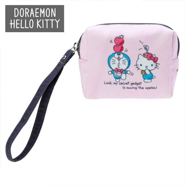 Hello Kitty x 多拉A夢 收納包 日本進口