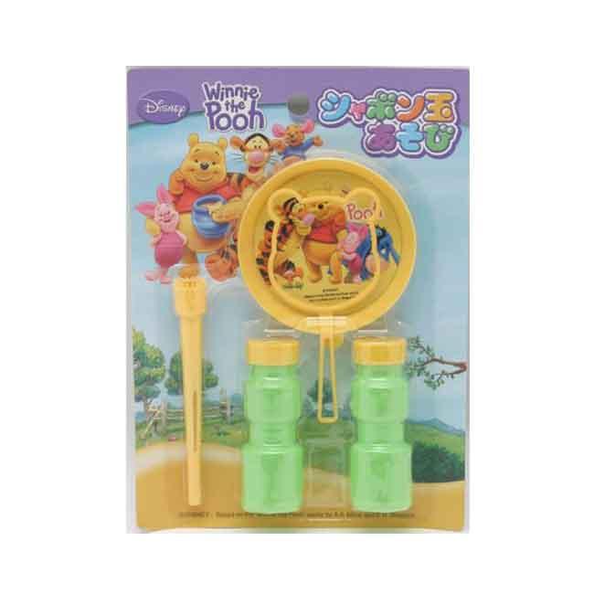 迪士尼 小熊維尼 吹泡泡玩具 日本進口