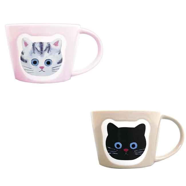 貓咪280ml馬克杯 兩款 杯子 日本進口