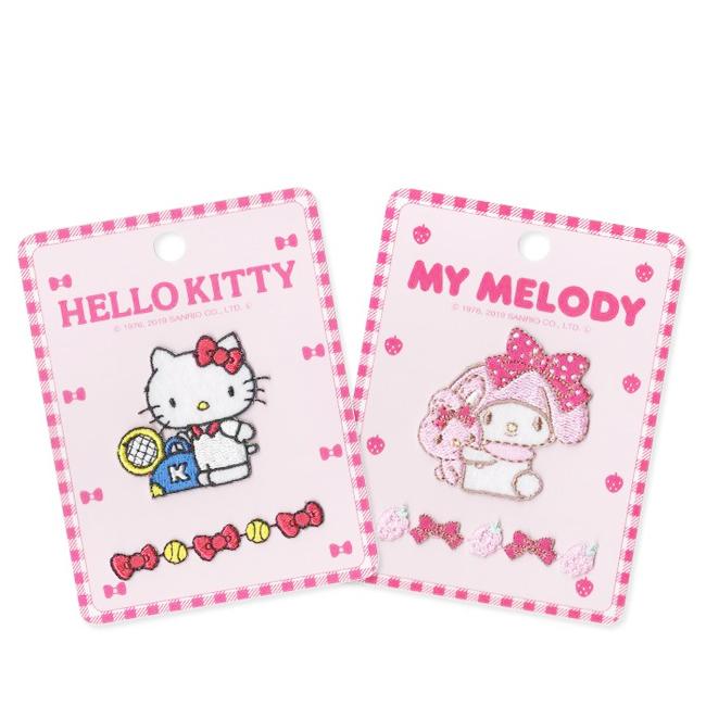 燙布貼 三麗鷗 Hello Kitty 美樂蒂 2入 兩款 可愛造型 日本進口正版授權