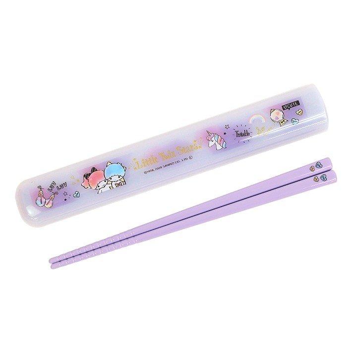 筷子附盒 三麗鷗 雙子星 餐具 環保 日本進口正版授權