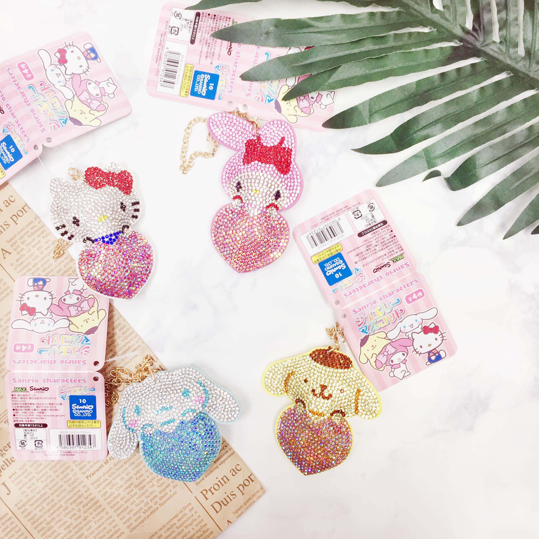 吊飾 三麗鷗 Hello Kitty 美樂蒂 大耳狗 布丁狗 水鑽 日本進口正版授權
