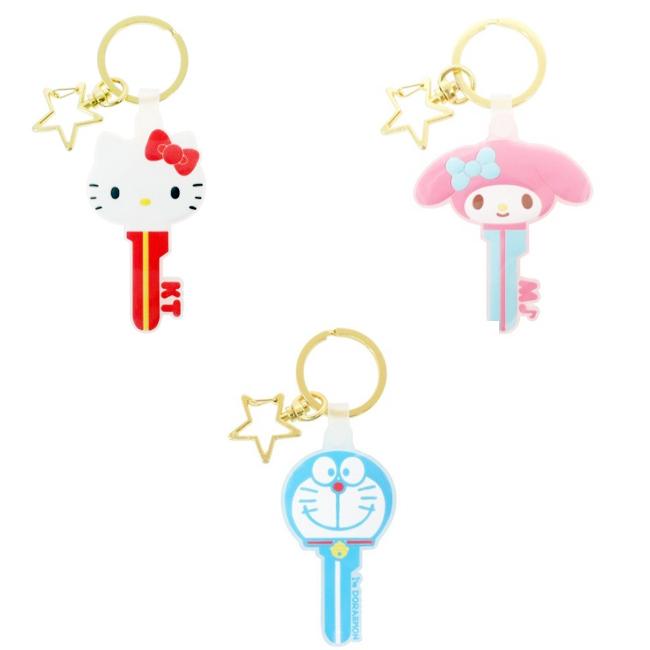 鑰匙圈 三麗鷗 Hello Kitty 美樂蒂 多拉A夢 鑰匙造型 星星 日本進口正版授權