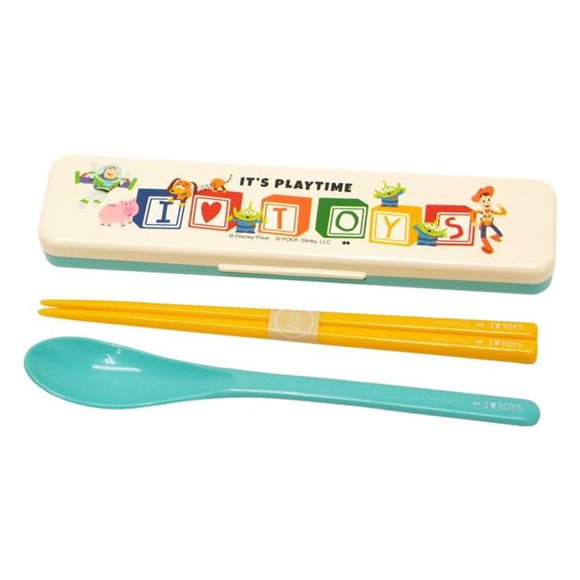湯筷附盒 日本 迪士尼 玩具總動員4 餐具 環保 日本進口正版授權