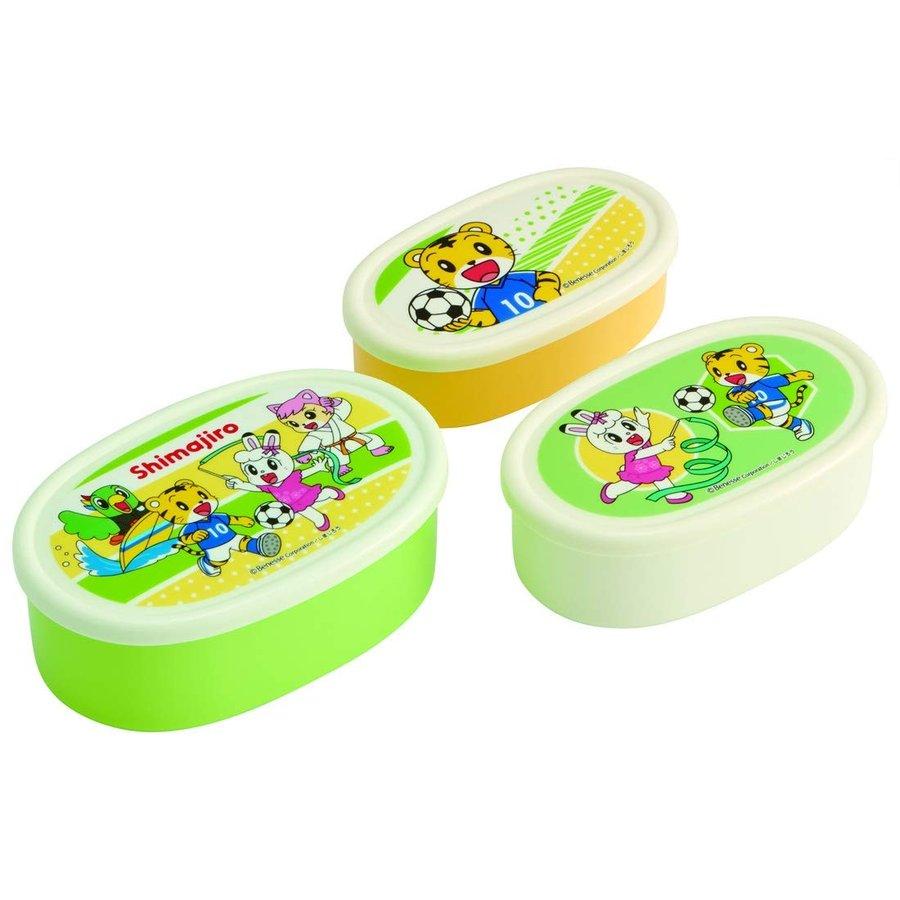 保鮮盒 巧虎 3入 環保 橢圓形 日本進口正版授權