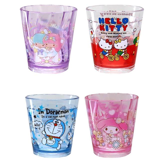 透明杯 三麗鷗 Hello Kitty 美樂蒂 kikilala 哆啦A夢 270ml 水杯 杯子 日本進口正版授權