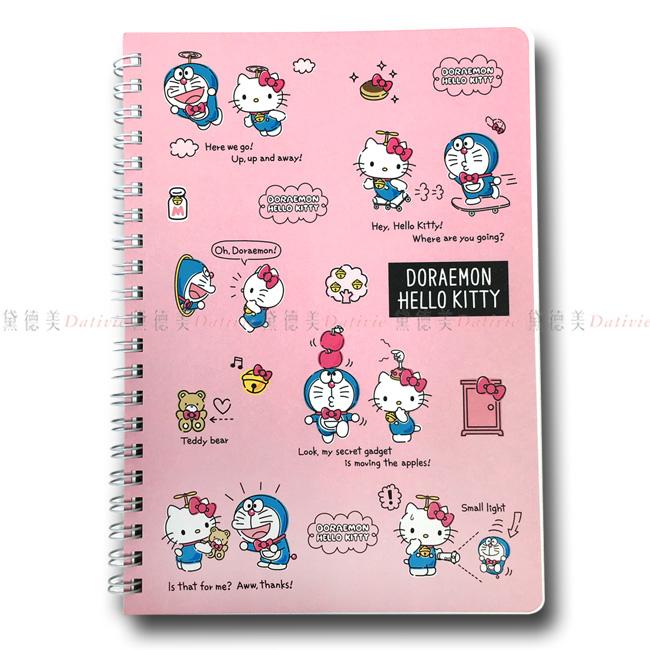 橫條筆記本 日本 三麗鷗 Hello Kitty 哆啦A夢 A5筆記本 記事本 日本進口正版授權