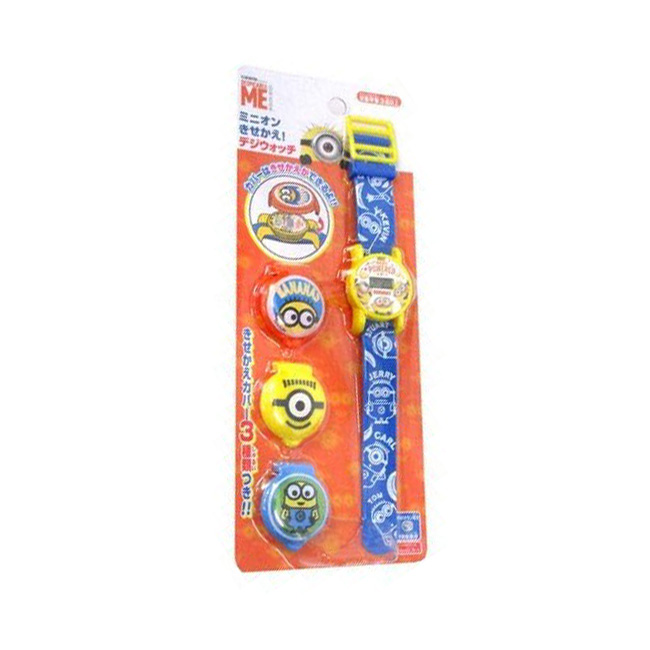 手錶 小小兵 Minions 錶殼可更換 電子錶 造型手錶 日本進口正版授權