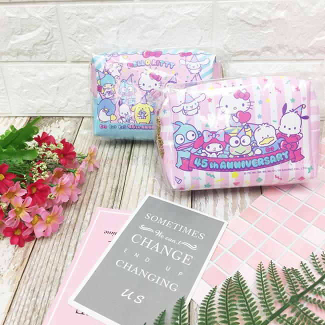 三麗鷗 KITTY 收納袋 筆袋 化妝包 皮革 兩款 正版授權