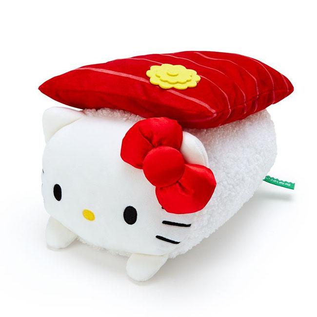 小巧靠墊 三麗鷗 Hello Kitty 凱蒂貓 KT 壽司造型靠墊 日本進口正版授權