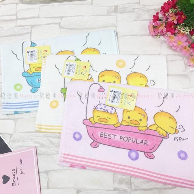 毛巾 黃色小鴨 170絨面 印花 童巾 100%棉 三款