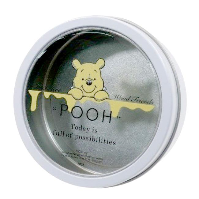 磁鐵置物盒 迪士尼 小熊維尼 圓形 收納盒 圓形 日本進口正版授權