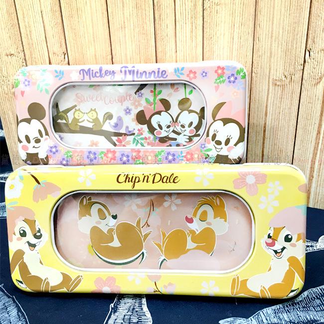 雙層鐵筆盒 迪士尼 米奇米妮 奇奇蒂蒂 鉛筆盒 正版授權