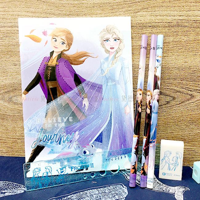 筆記文具組 迪士尼 冰雪奇緣 袋裝文具組 正版授權
