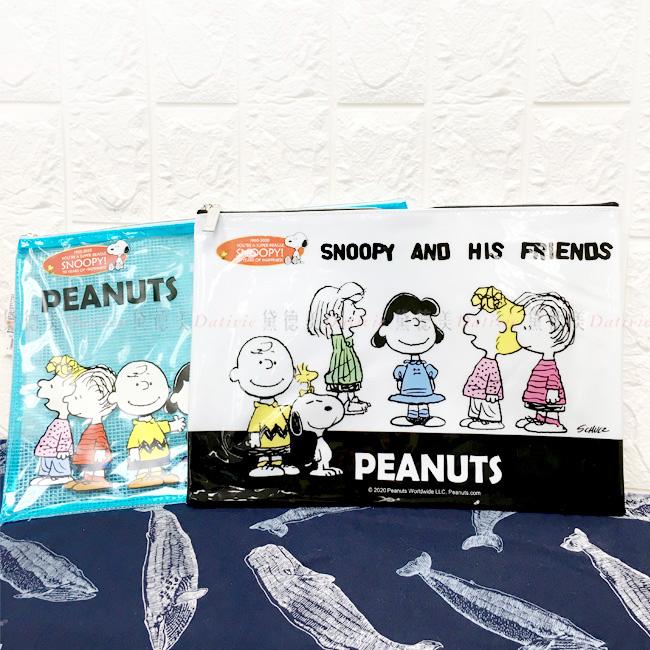 A4網狀資料夾 史努比 Snoopy A4拉鍊資料袋 正版授權