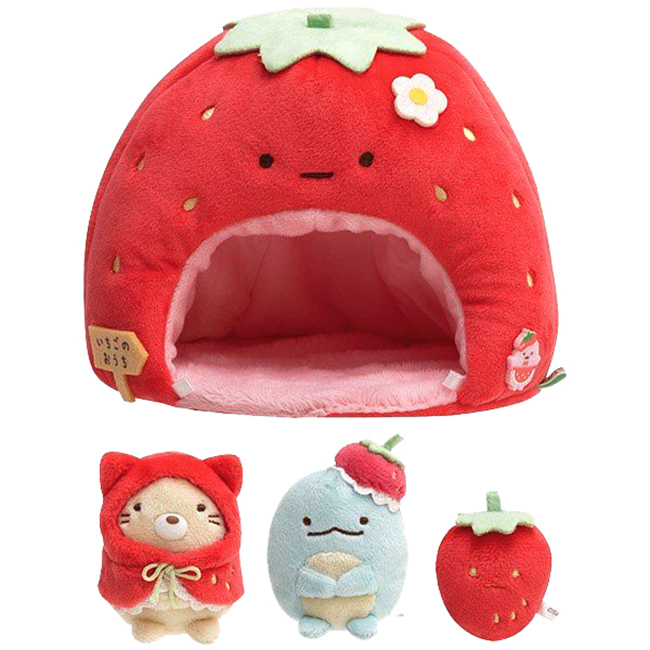 草莓屋 SAN-X 角落生物 角落小夥伴 布偶屋 娃娃屋 喫茶系列 日本進口正版授權