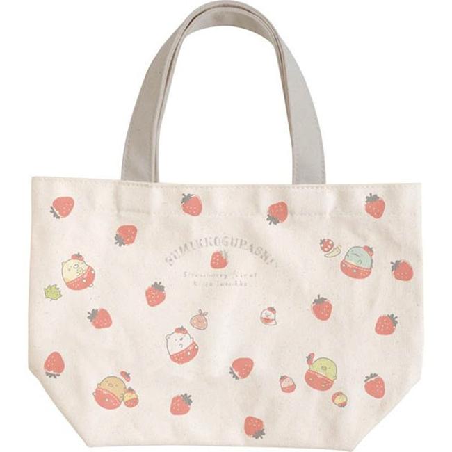 帆布刺繡手提袋 SAN-X 角落生物 角落小夥伴 帆布袋 日本進口正版授權