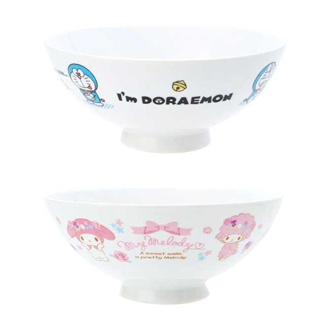 陶瓷茶碗 三麗鷗 美樂蒂 哆啦A夢 小叮噹 200ml 湯碗 日本進口正版授權
