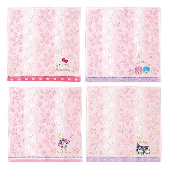 小方巾 三麗鷗 kitty 美樂蒂 kikilala 酷洛米 無捻紗小方巾 日本進口正版授權