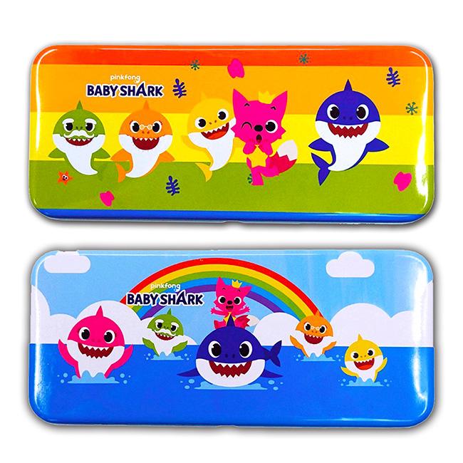 雙層鐵筆盒 baby shark 2款 鉛筆盒 正版授權