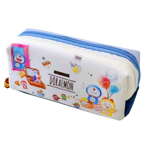 三麗鷗 哆啦a夢50周年紀念 雙拉鍊 大容量 筆袋 日本進口