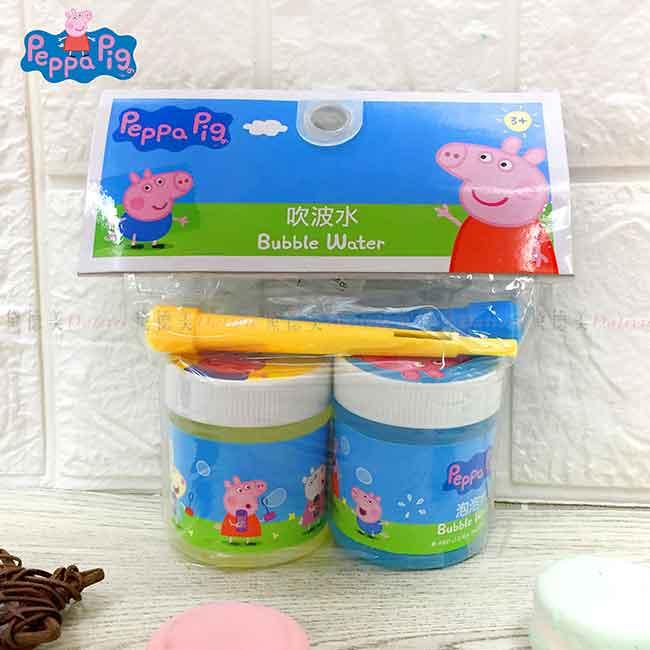 泡泡水+吹嘴 粉紅豬小妹 佩佩豬 Peppa pig 2入 吹泡泡組 正版授權