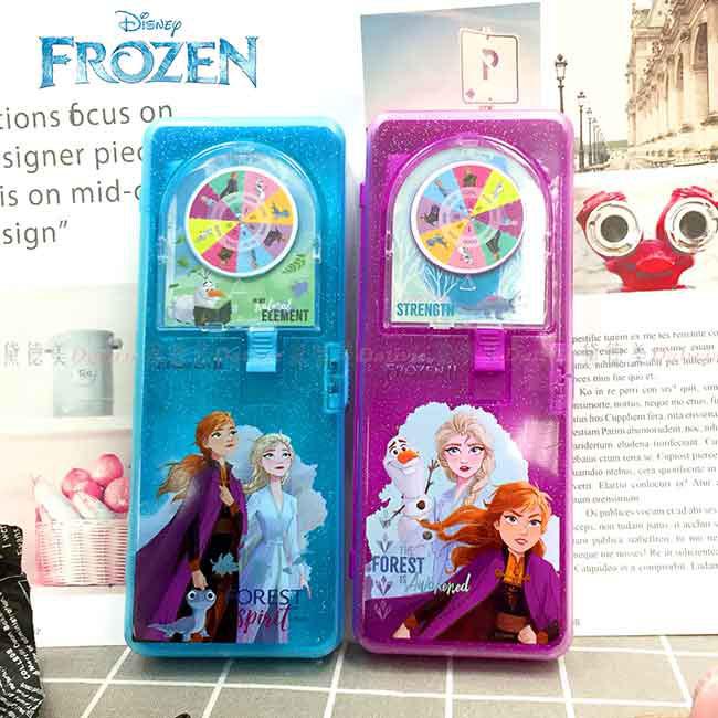 幸運輪轉筆盒 迪士尼 冰雪奇緣2 FROZEN 鉛筆盒 正版授權