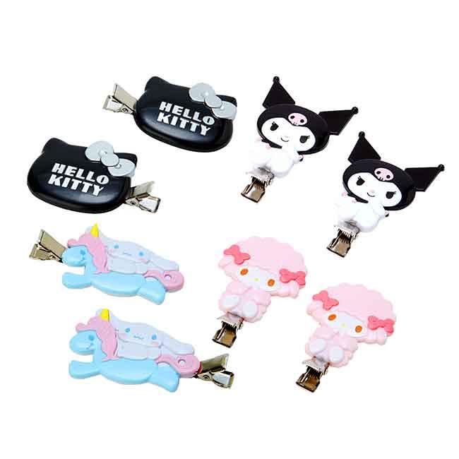 造型瀏海夾 三麗鷗 Kitty 美樂蒂 酷洛米 大耳狗 2入組 髮夾 壓夾 日本進口正版授權