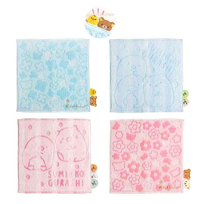 刺繡造型純棉小方巾 SAN-X 角落生物 懶懶熊 拉拉熊 小毛巾 日本進口正版授權