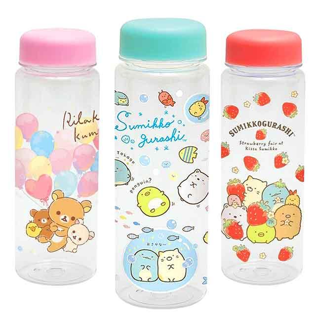 塑膠冷水瓶 SAN-X 角落生物 拉拉熊 懶懶熊 500ml 透明水瓶 日本進口正版授權