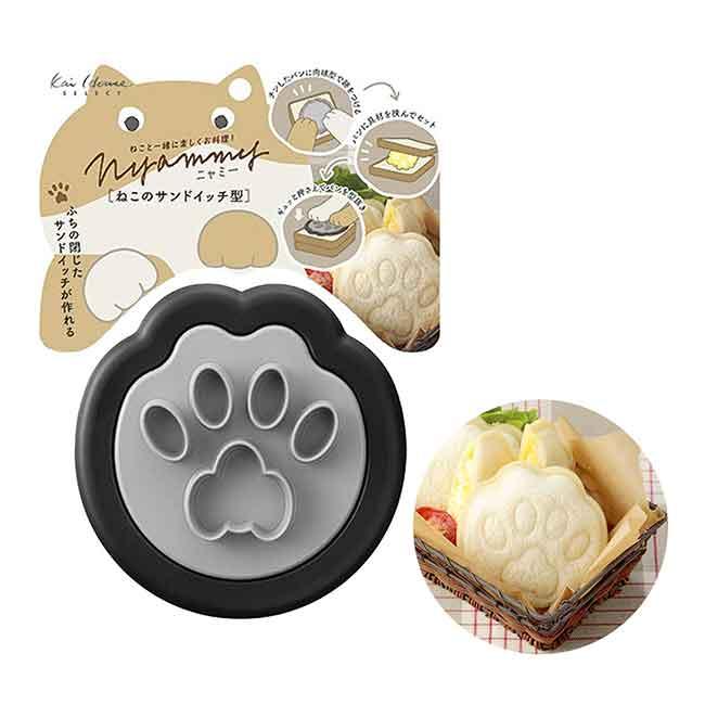 腳掌造型壓模 日本 貝印 Nyammy 小黑貓 廚房用品 日本製造進口