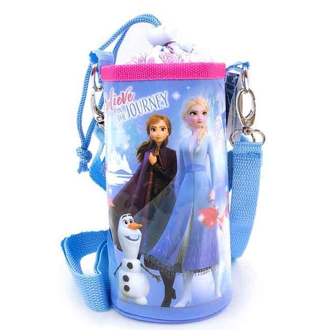 水壺套附背袋 迪士尼 冰雪奇緣 Elsa 安娜 500ml 水壺提袋 日本進口正版授權