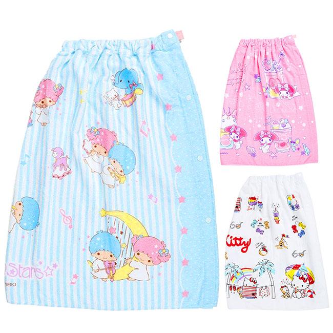 抗uv純棉浴裙 三麗鷗 Kitty 美樂蒂 kikilala 純棉圍裙 日本進口正版授權