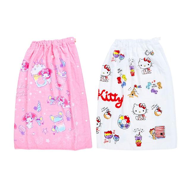 抗uv純棉浴裙 三麗鷗 Hello Kitty 美樂蒂 純棉圍裙 日本進口正版授權