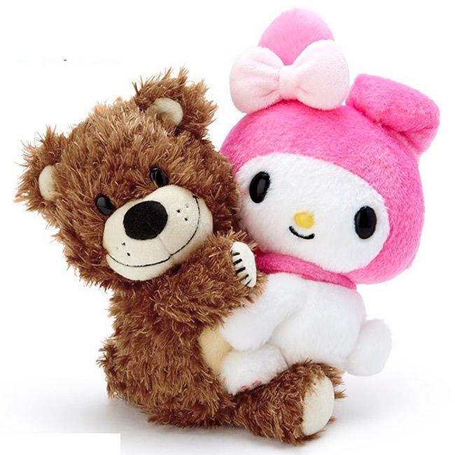雙人毛絨娃娃 三麗鷗 My Melody x Suzy's zoo 美樂蒂 玩偶 日本進口正版授權
