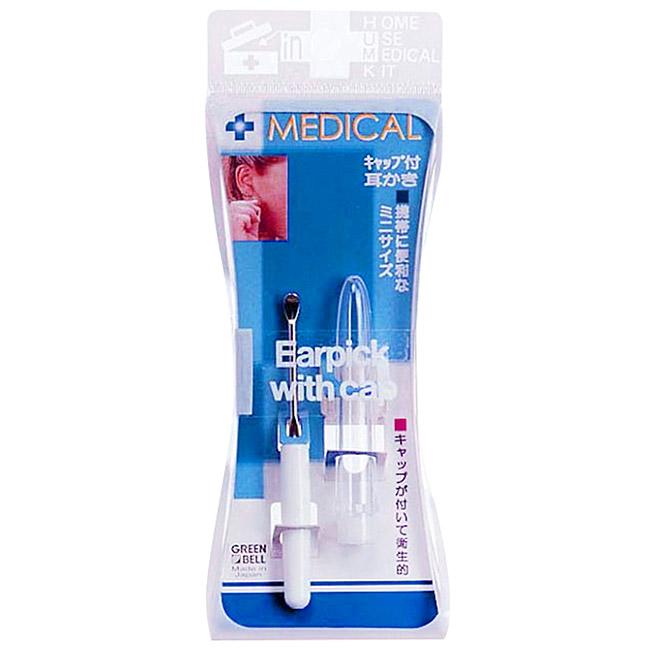 不銹鋼附蓋耳扒組 日本 Greenbell Medical 攜帶式耳扒 日本製造進口
