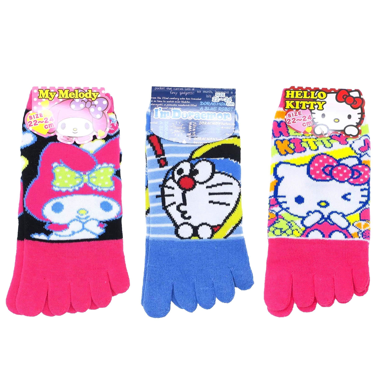 五趾襪 3款 哆啦a夢 KITTY 美樂蒂 三麗鷗 日本進口
