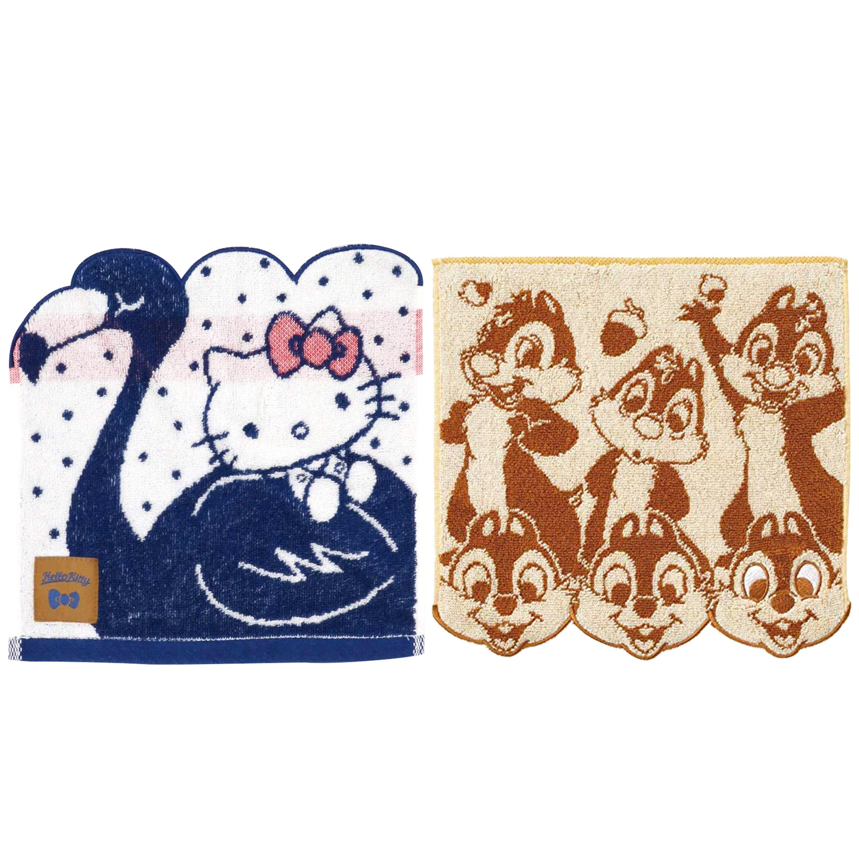 無捻紗純棉方巾 2款 KITTY 奇奇蒂蒂 三麗鷗 迪士尼 日本進口