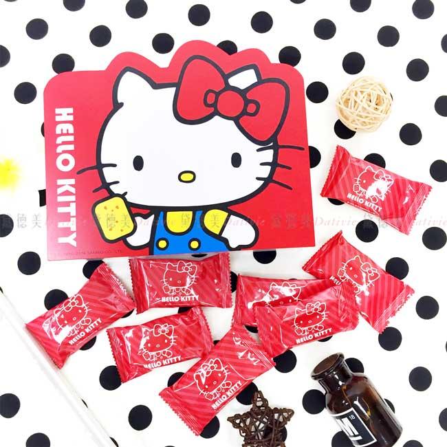 幸福禮盒 三麗鷗 Hello Kitty 鹹蛋黃方塊酥 蛋素 正版授權
