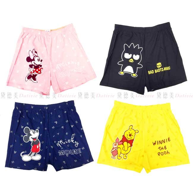 平口褲 迪士尼 酷企鵝 米妮 米奇 維尼 M~XL 四角褲 正版授權